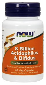 Acidophilus and Bifidus 8 Billion - 60 Caps Nowfoods