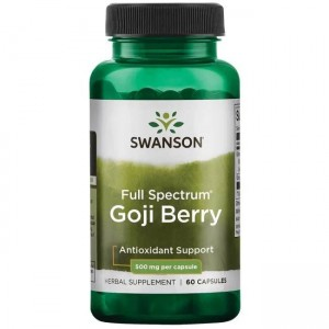 Full Spectrum Goji 500mg 60kaps Swanson