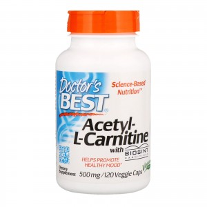 Acetyl L-Carnitine with Biosint Carnitines - 500mg - 120 vcaps DrBest
