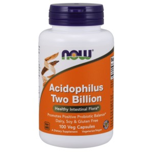 Acidophilus Two Billion - 100 capsules NOWFOODS