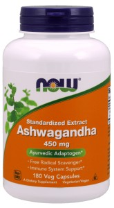 Ashwagandha Extract 450 mg - 180 Vcaps Nowfoods