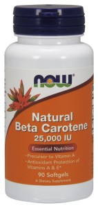 Beta karoten (Natural) 25000IU 90kaps Nowfoods