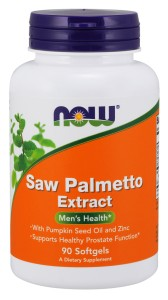 Saw Palmetto Extract with Pumpkin Seed Oil and Zinc, 80mg - 90 softgels Nowfoods