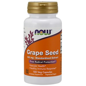 Grape Seed, 100mg - Standardized Extract - 100 vcaps NOWFOODS