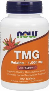 Now Foods, TMG 1000 mg, 100 tabletek
