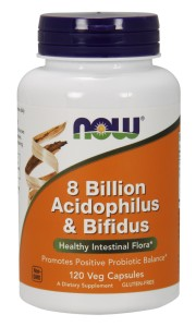 Acidophilus and Bifidus 8 Billion - 120 Caps Nowfoods