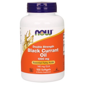 Black Currant Oil, 1000mg (Double Strength) - 100 softgels Nowfoods