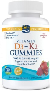 Witamina D3+K2 Gummies, Pomegranate - 60 gummies Nordic Naturals
