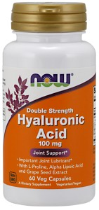 Hyaluronic Acid hialuronowy 100 mg - 60 Vcaps Nowfoods