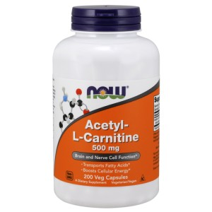 NOW ACETYL L-CARN 500mg 200 VCAPS