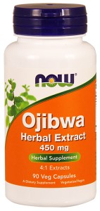 Ojibwa  4:1 Extract 450 mg - 90 Caps Nowfoods
